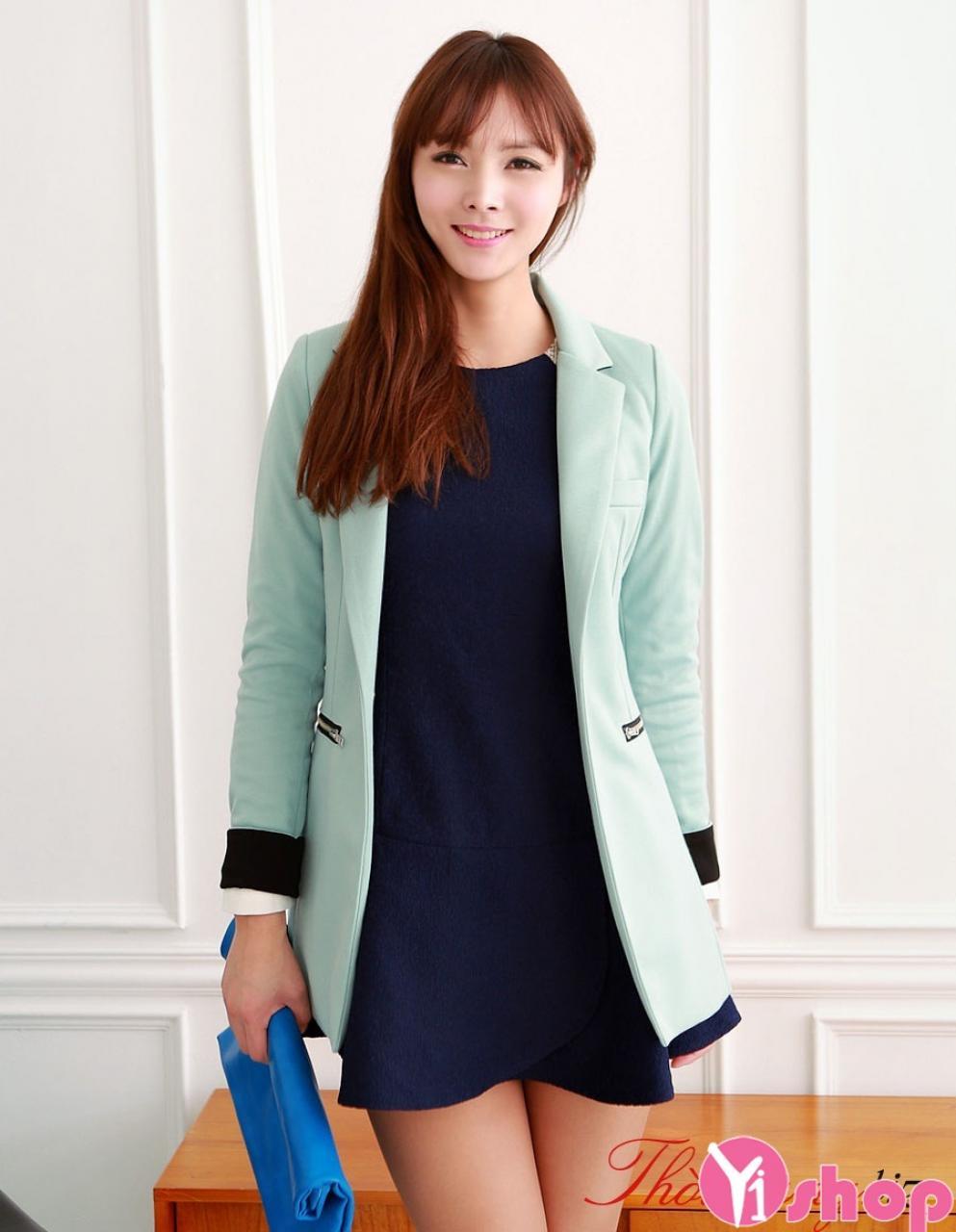 Kiểu áo khoác vest nữ dáng dài đẹp sang trọng nhất thu đông 2019