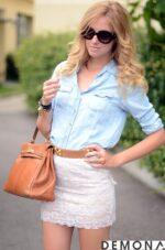 Kiểu chân váy đẹp ren trắng hè 2021 – 2022 cho nàng tự tin dạo phố