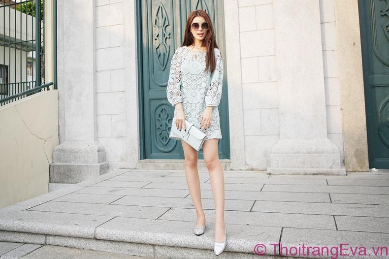 Xu hướng đầm ren đẹp đốn tin mọi cô nàng mê thời trang 2019 phần 12