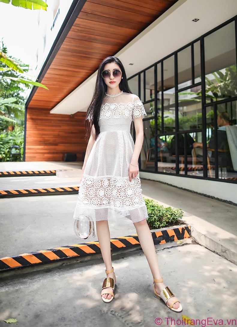 Xu hướng đầm ren đẹp đốn tin mọi cô nàng mê thời trang 2019 phần 5