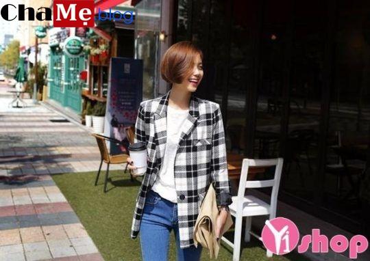 Mẫu áo khoác blazer nữ đẹp thu đông 2021 - 2022 phong cách Hàn Quốc