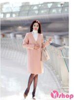 Mẫu áo khoác măng tô nữ dáng dài đẹp sang trọng thu đông 2021 – 2022