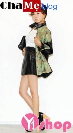 Mẫu áo khoác rằn ri nữ đẹp thu đông 2021 - 2022 phong cách chất nhất quả đất