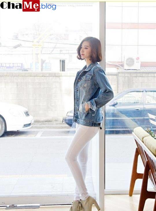 Mix áo khoác jean nữ đẹp với món đồ yêu thích ngày đại hàn đông 2021 - 2022