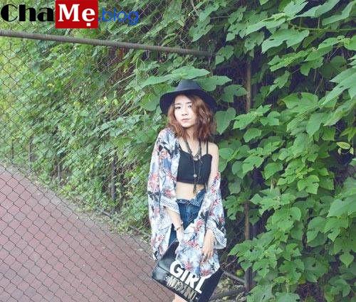 Mix áo khoác kimono nữ đẹp phong cách nhật bản thu đông 2021 - 2022
