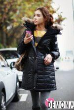 Mix áo khoác phao nữ với quần jean năng động thu đông 2021 – 2022