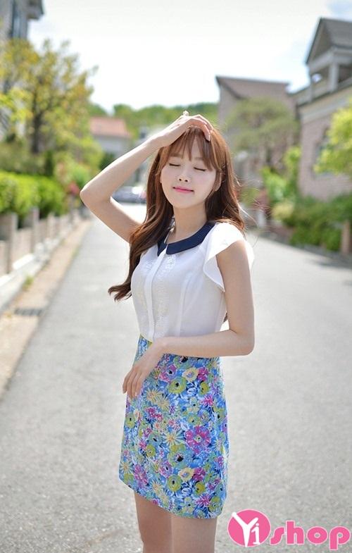 Mix áo sơ mi voan nữ đẹp cùng chân váy ngắn điệu đà đón hè 2021 - 2022