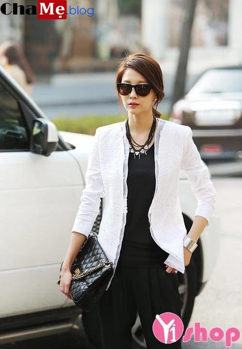 Mùa đông 2021 - 2022 nên mua áo khoác blazer nữ hàn quốc đẹp cực hợp mốt này