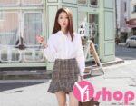 Mùa hè thêm xinh với áo sơ mi nữ tay bồng đẹp kiểu Hàn Quốc dễ thương 2021 – 2022