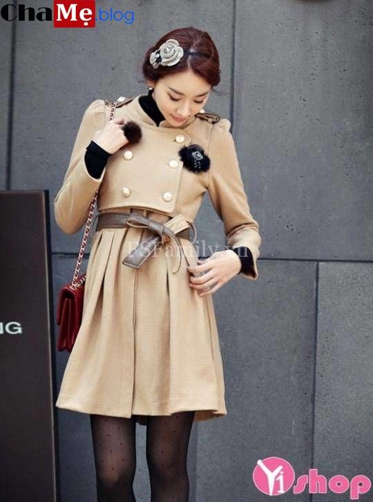 Tuyển tập những mốt áo khoác nữ chiết eo dáng dài đẹp thu đông 2021 - 2022