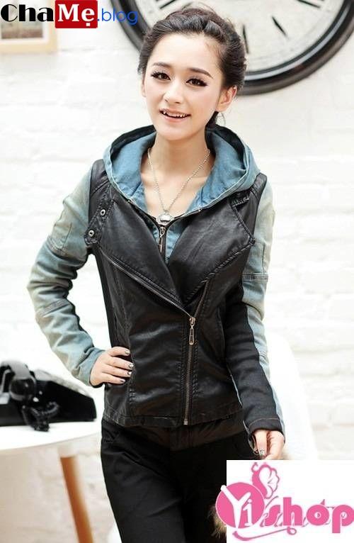 Nên sắm ngay mốt áo khoác da nữ dáng ngắn cách điệu đẹp thu đông 2021 - 2022