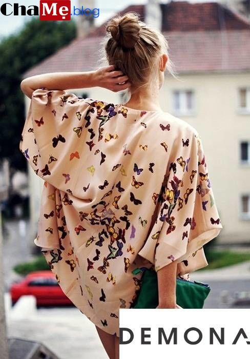Ngắm mẫu áo khoác nữ kimono đẹp phong cách nhật bản thu đông 2021 - 2022
