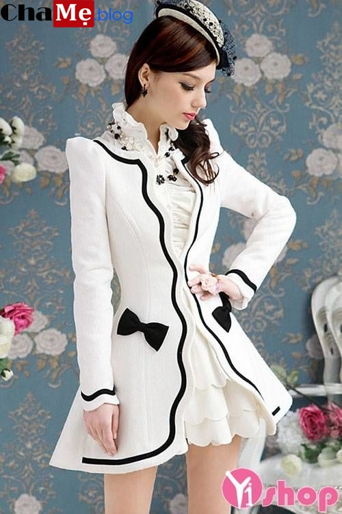 Ngắm nhìn áo khoác dáng váy nữ hàn quốc đẹp quyến rũ đông 2021 - 2022
