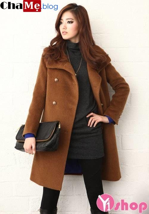 Nhanh tay chọn áo khoác nữ màu nâu đẹp thu đông 2021 - 2022 ra phố ngày lạnh