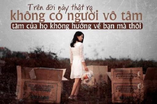 Những câu nói hay về sự vô tâm trong tình yêu mang nhiều tâm sự buồn