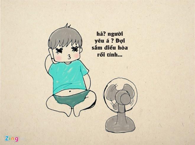 Stt hay về mùa hè nắng nóng hài hước thu hút nhiều lượt like trên fb, zalo
