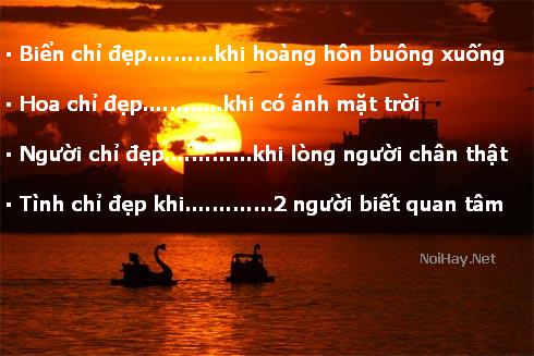 Những câu nói stt hay về biển chiều hoàng hôn buông xuống chia sẻ trên zalo, fb