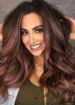 Nhuộm tóc màu nâu đỏ ánh tím đẹp nhất hè 2021 các nàng khó mà bỏ qua