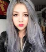 Nhuộm tóc màu khói 2021 – Màu tóc đẹp giới showbiz ưa chuộng rất nhiều hè