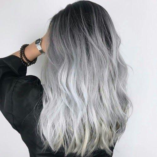 Xu hướng tóc đẹp 2021 nhuộm tóc màu xám khói trẻ trung thời thượng •  Adayne.vn