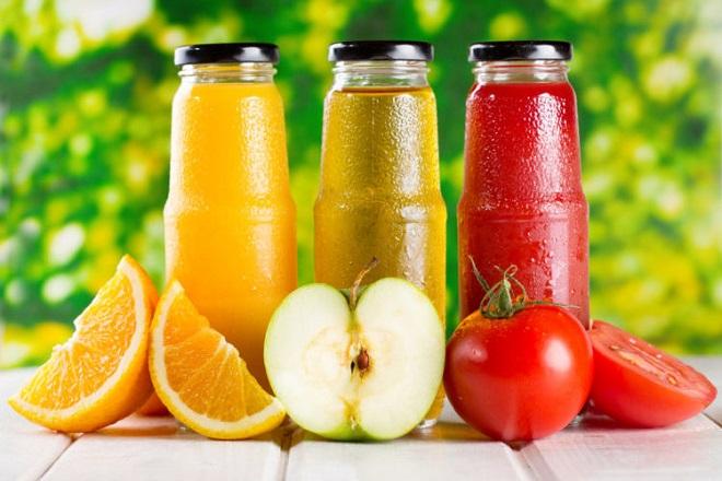 các loại nước ép trái cây tươi