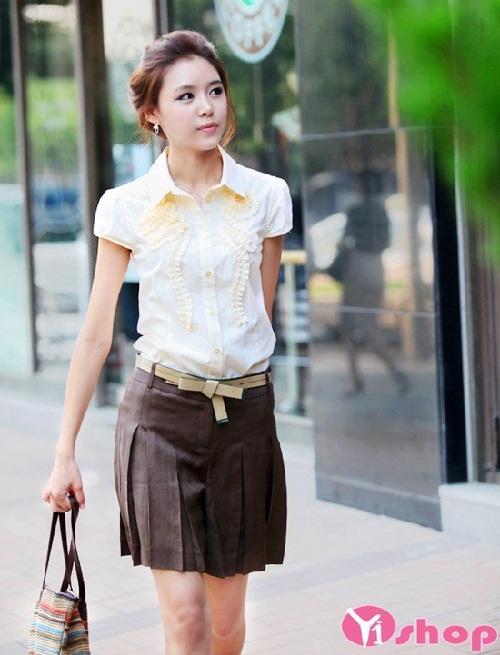 Phát cuồng với những mẫu chân váy đầm xòe ngắn đẹp mốt nhất mùa hè
