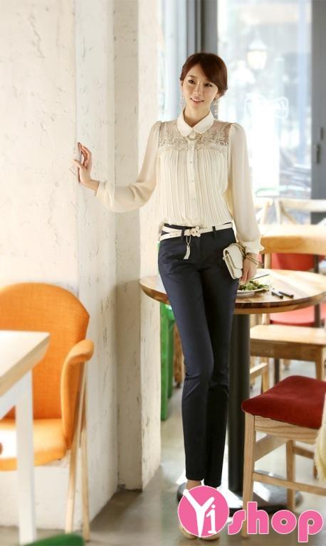 Quần tây nữ công sở Hàn Quốc đẹp thanh lịch đi làm ngày hè 2021 - 2022
