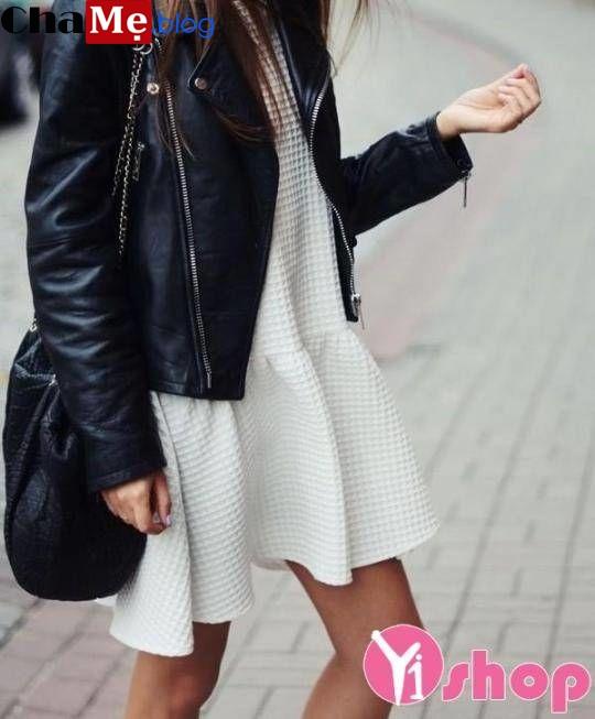 Sành điệu cả tuần nhờ mix áo khoác da nữ đẹp với món đồ ưng ý đông 2021 - 2022
