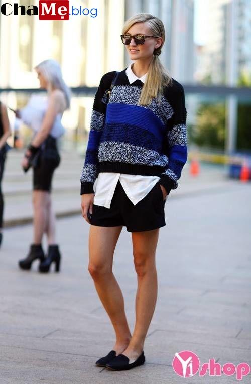 Sành điệu ngày lạnh cùng áo khoác len sweater nữ đẹp thu đông 2021 - 2022