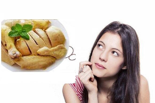 sinh mổ bao lâu được ăn thịt gà