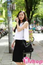 Thoáng mát ngày hè 2021 – 2022 cùng áo sơ mi nữ sát nách đẹp kiểu Hàn Quốc