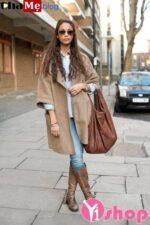 Thời trang áo khoác da lộn nữ đẹp thu đông 2021 – 2022 món đồ nên mua liền tay