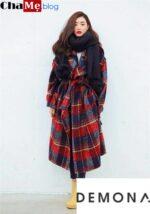 Thời trang áo khoác dạ nữ sài gòn tphcm oversize kẻ caro đẹp thời thượng đông 2021 – 2022