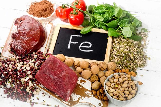Những thực phẩm chứa nhiều sắt