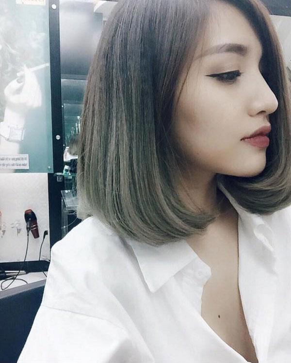 Tóc nhuộm màu nâu rêu – Màu tóc đẹp cực hot của giới trẻ hiện nay 2021