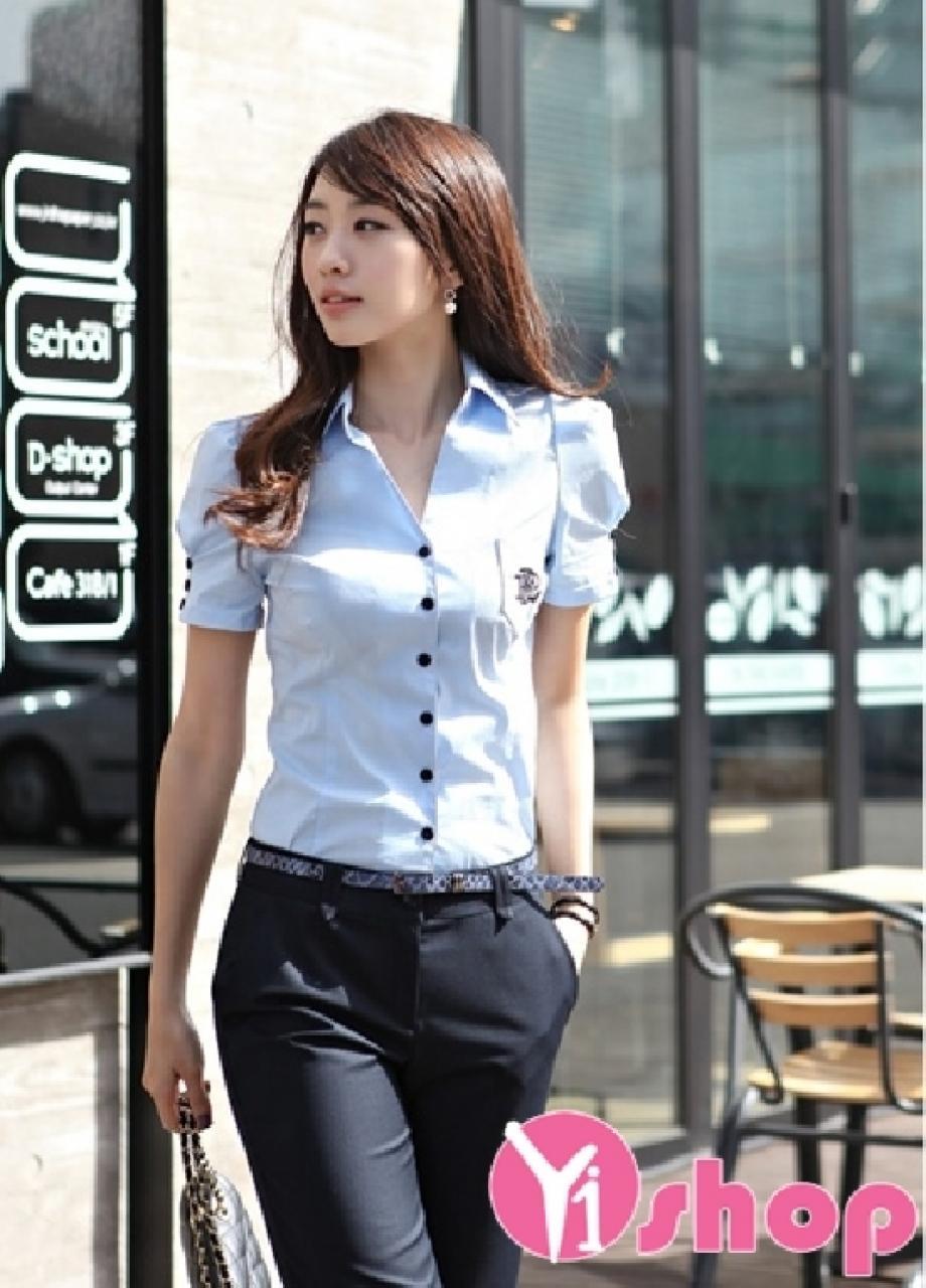 Tổng hợp 3 kiểu áo sơ mi nữ ngắn tay đẹp được ưa chuộng nhất hè 2021 - 2022