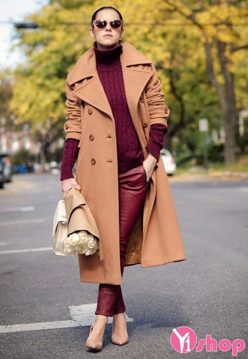 Tổng hợp mẫu áo khoác dạ nữ đẹp cho bà bầu thu đông 2019