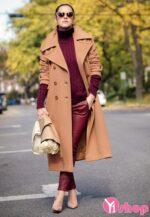Tổng hợp mẫu áo khoác dạ nữ đẹp cho bà bầu thu đông 2021 – 2022