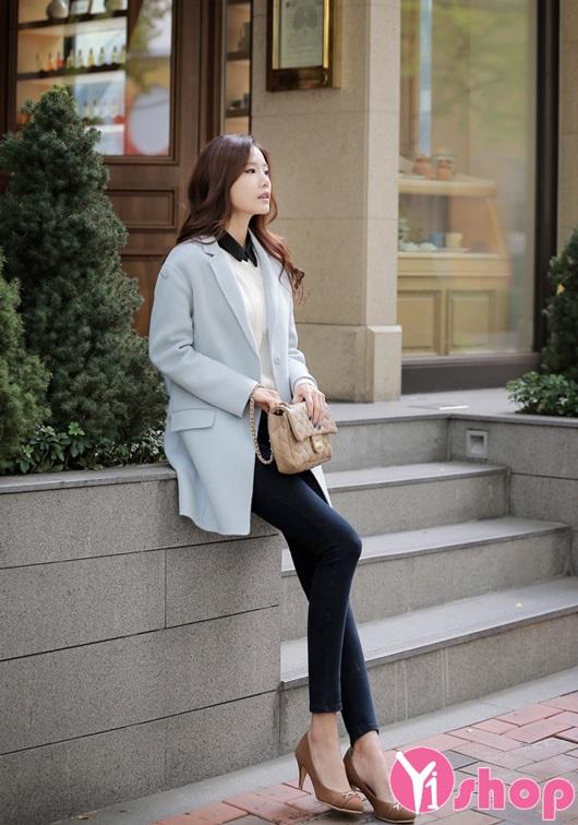 Top 9 kiểu áo khoác dạ nữ màu pastel đẹp nhất thời trang thu đông 2019