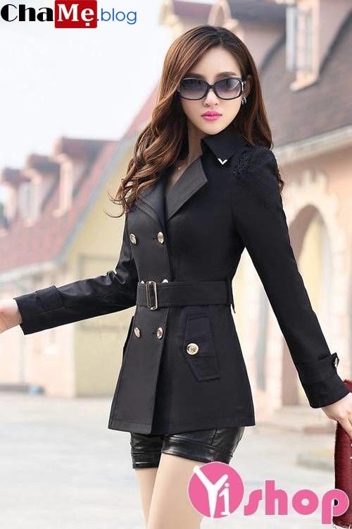 Trang phục áo khoác kaki nữ dáng dài đẹp không thể ngó lơ mùa đông 2021 - 2022
