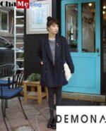 Tránh gió lạnh với áo khoác blazer nữ dáng dài đẹp thu đông 2021 – 2022
