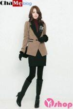 Trào lưu áo khoác blazer dáng dài nữ đẹp ấm áp ngày lạnh thu đông 2021 – 2022
