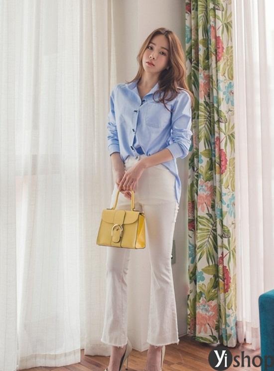 Trào lưu áo sơ mi nữ oversize đẹp đang gây sốt trong làng thời trang Việt 2019 phần 11