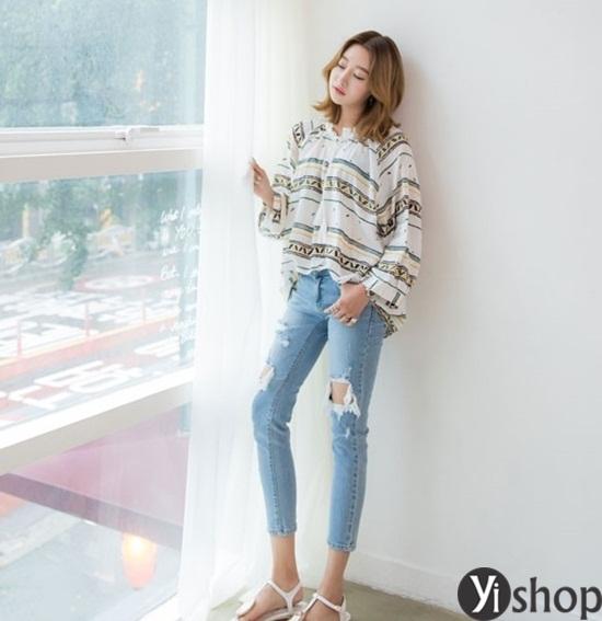 Trào lưu áo sơ mi nữ oversize đẹp đang gây sốt trong làng thời trang Việt 2019 phần 14