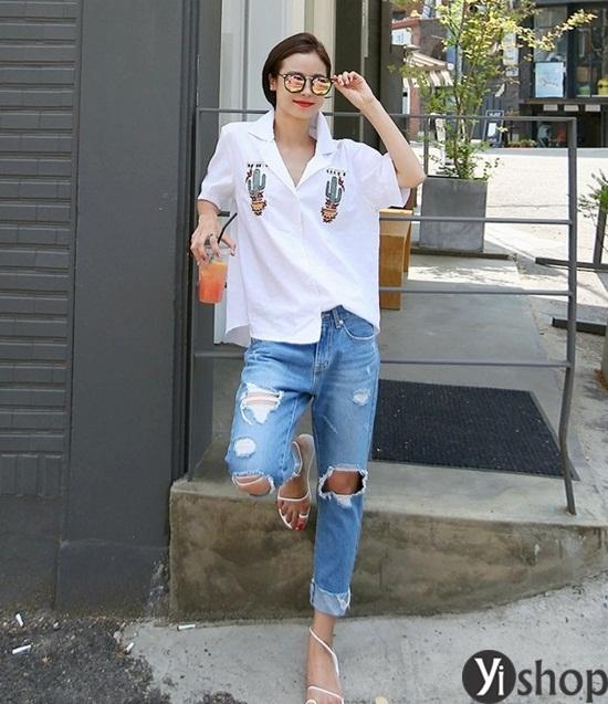 Trào lưu áo sơ mi nữ oversize đẹp đang gây sốt trong làng thời trang Việt 2019 phần 5