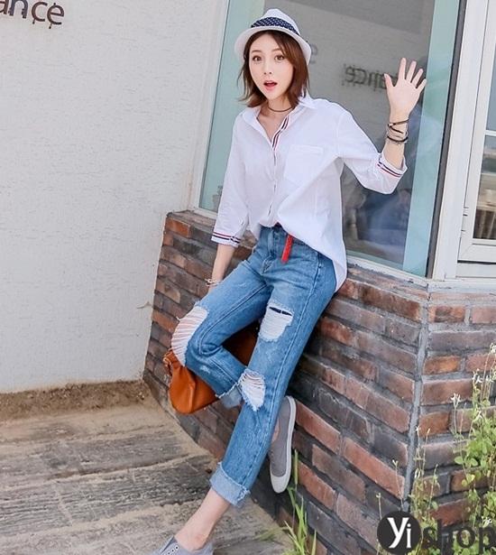 Trào lưu áo sơ mi nữ oversize đẹp đang gây sốt trong làng thời trang Việt 2019 phần 6