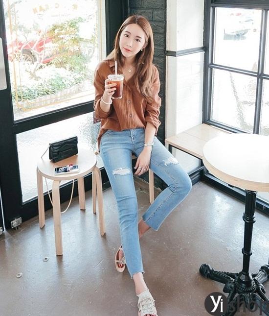 Trào lưu áo sơ mi nữ oversize đẹp đang gây sốt trong làng thời trang Việt 2019 phần 7