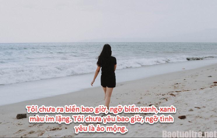 Những câu stt thả thính hay về biển tình cảm ngọt ngào sâu sắc nhất