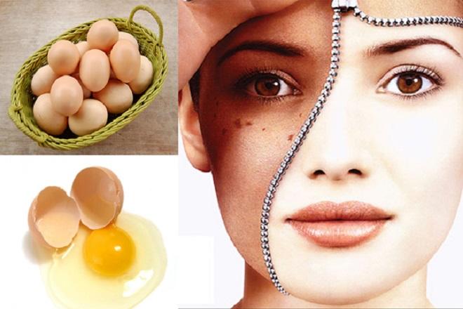 trứng gà trị nám tàn nhang