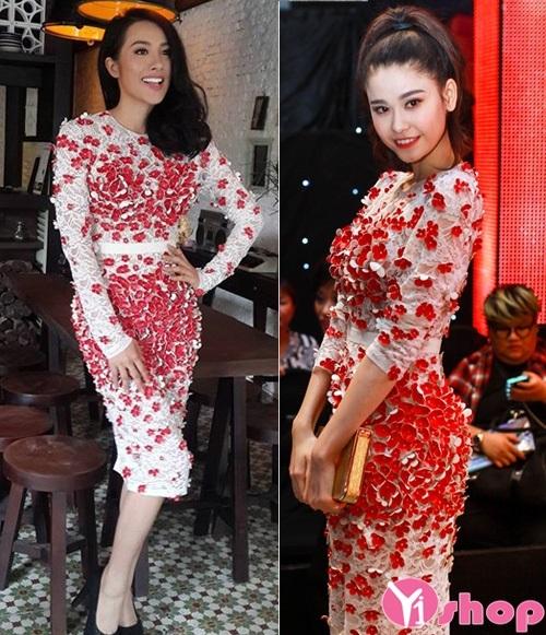 Váy đầm 3D họa tiết hoa đẹp xu hướng thời trang mới nhất hè 2021 - 2022